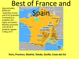 O`Neill Travel Group 2013 France and Spain