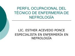 perfil ocupacional del técnico de enfermería de nefrología