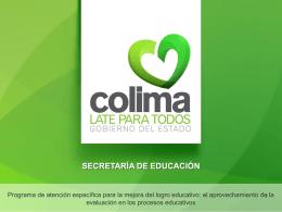 Programa de atención específica para la mejora del logro educativo