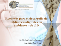 Diapositiva 1 - 2 Conferencia Internacional de Biblioteca Digital y