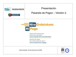 Presentacion Administraciones Vascas