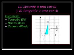 La secante a una curva y la tangente a una curva Integrantes