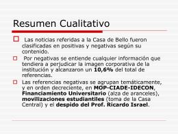 Resumen Cualitativo - Universidad de Chile