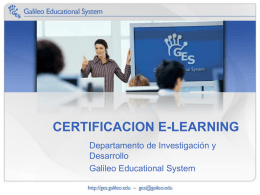 certificacion e-learning - Galileo Educational System