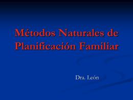 Métodos Naturales de Planificación Familiar
