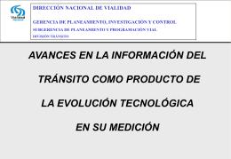 Evolución de la información brindada en el TMDA (Ver)