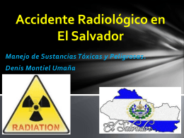 Accidente Radiológico en El Salvador