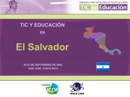TIC y Educación en El Salvador