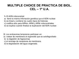 multiple choice del choice de practica de biol. cel – 1º ua