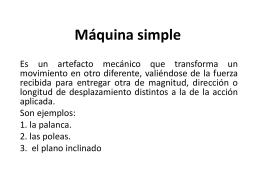 Máquina simple.