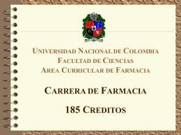 3 créditos - Universidad Nacional de Colombia