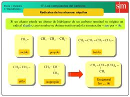 10. Radicales de los alcanos alquilos