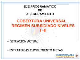 coberturas universales niveles i