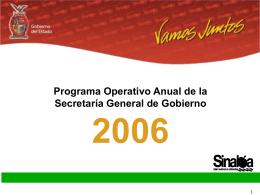 Programa Operativo Anual 2006 - Portal de Acceso a la Información