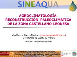 Agroclimatología. Reconstrucción paleoclimática de la zona
