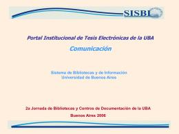 Desarrollo del portal institucional de tesis electrónicas de la UBA