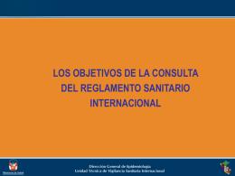 los objetivos de la consulta del reglamento