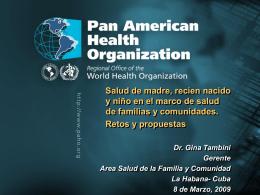 Situación de Salud en las Américas (1 005 kB)