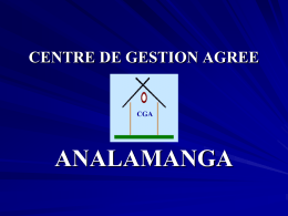 LE CENTRE DE GESTION AGREE