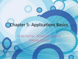Chapter 5- Applications Basics
