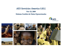 info - AES Servicios America | Home