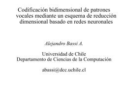 Codificación bidimensional de patrones vocales mediante un