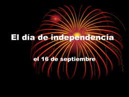 La independencia de México