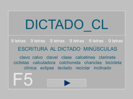 dictado_cl - 9 letras