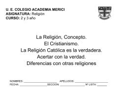 Religión CURSO - promo 50 merici