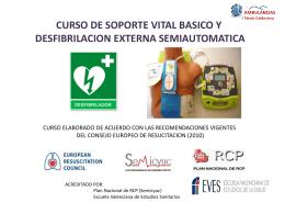 curso de soporte vital basico y desfibrilacion externa