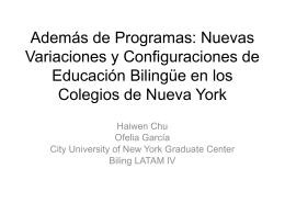 Latinos en los Colegios de Nueva York