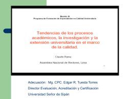 presentación módulo iii anr - Universidad Señor de Sipán