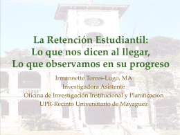 Copy of La retención estudiantil - OIIP