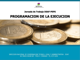 Programación del Presupuesto Anual