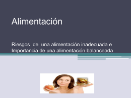 Alimentación Riesgos e Importancia de una Alimentación - cl