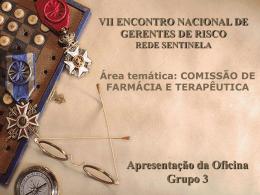 Comissão de Farmácia e Terapêutica - Grupo III