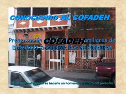 CONOCIENDO EL COFADEH