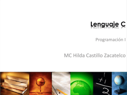Lenguaje C ( MUM) - Facultad de Ciencias de la Computación