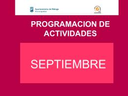 programacion de actividades - Area de Igualdad de Oportunidades