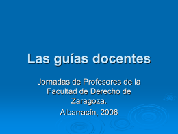 Las guías docentes - Universidad de Zaragoza