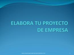 elabora tu proyecto de empresa - Empresa e Iniciativa Emprendedora