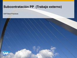 Subcontratación PP (Trabajo externo)