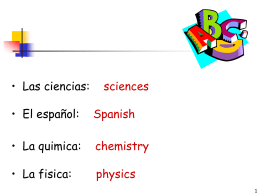 Las Asignaturas School subjects
