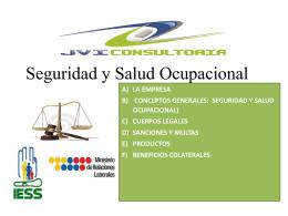 seguridad y salud ocupacional) cuerpos legales sanciones y multas