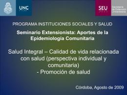 Evolución conceptual - Universidad Nacional de Córdoba