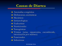 Diagnóstico microbiológico de las diarreas infecciosas