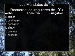 Los Mandatos de –tú- - Sr. Nodarse OEHS Spanish
