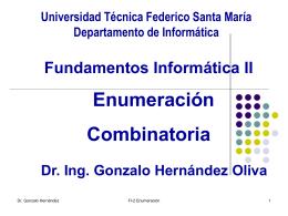 Enumeración - Universidad Técnica Federico Santa María