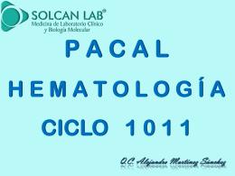 PACAL HEMATOLOGÍA 0912