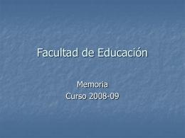 Gráficos 2008-09 - Universidad de Salamanca